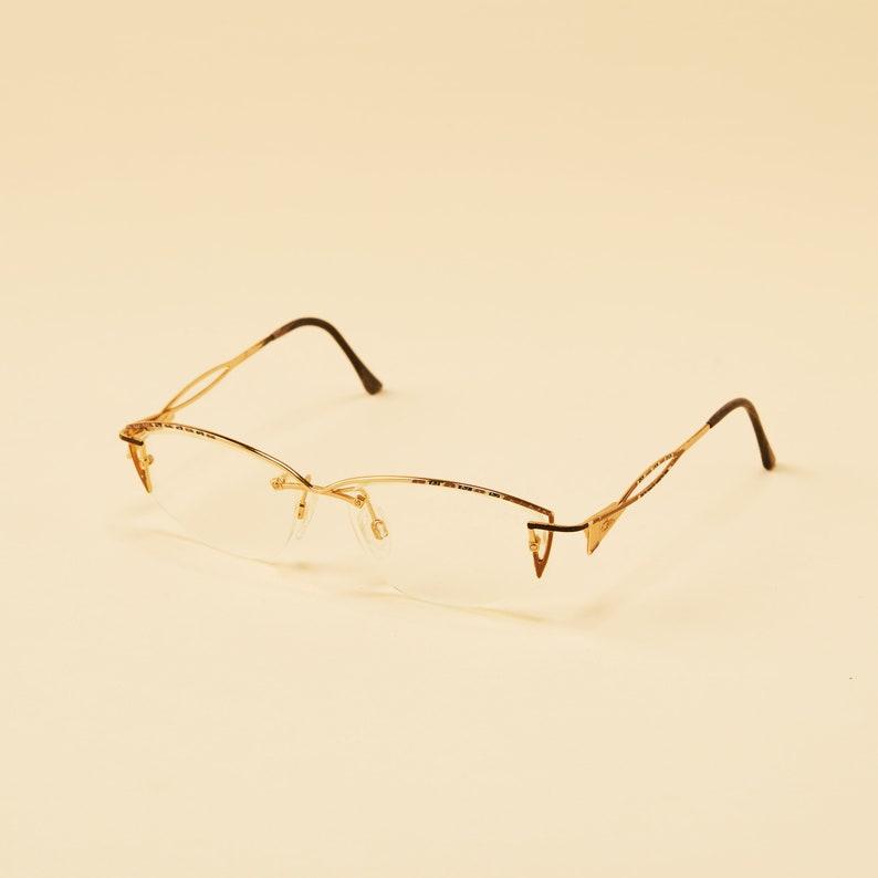 fd0e4c7979 Vintage Cazal Drill Mount Eyeglasses Vintage Cazal Rimless