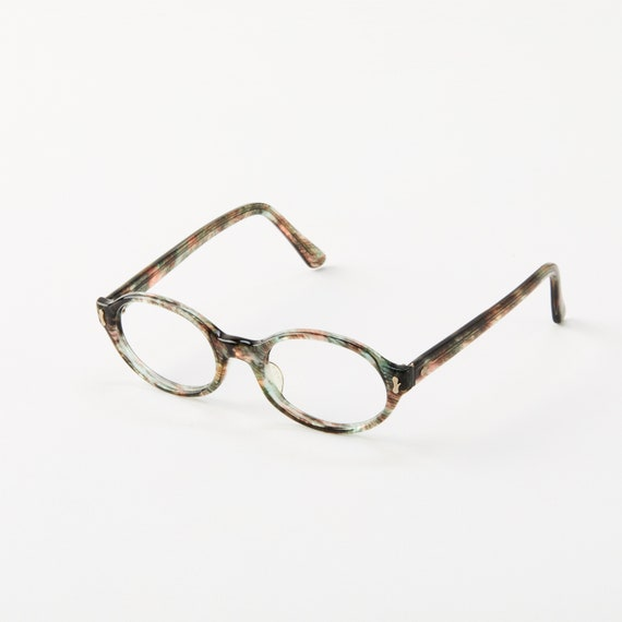 e98dc2bbe8e Vintage Liberty Optical Eyeglass Frame Green   Grey   Brown