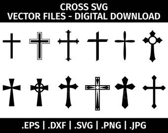 Cross SVG Christian Vector Clip Art