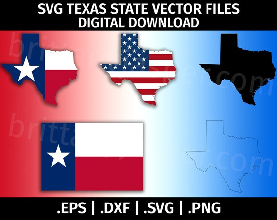 texas state flag svg vector clip art cutting files for etsy