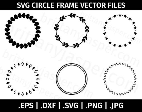 Download Circle Frames / Borders SVG Vector Clip Art - Cutting ...