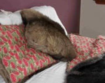 Wallaby fur cushion