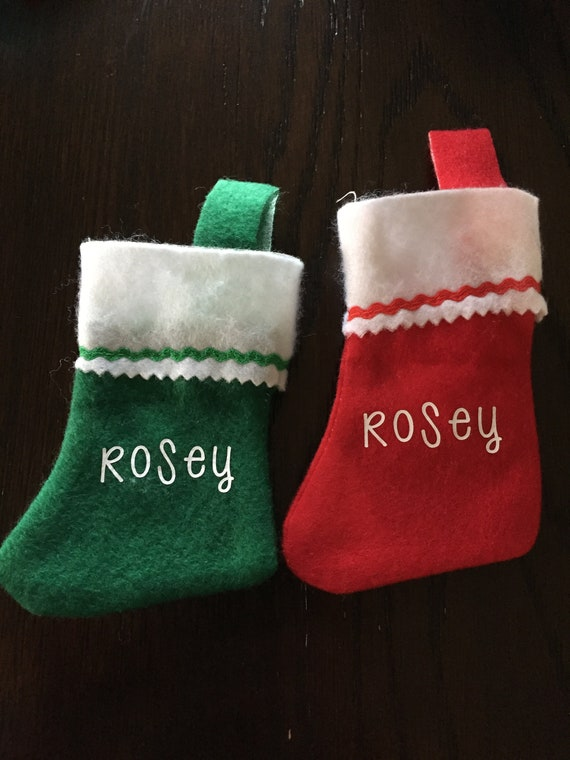 Personalized Gift Card Holder Elf Christmas Stockings