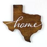 Texas wood sign - Texas Wall Art - Texas Shape Wall Art -Texas Home Decor - Wood State Decor - Real Estate Closing Gift - Housewarming Gift