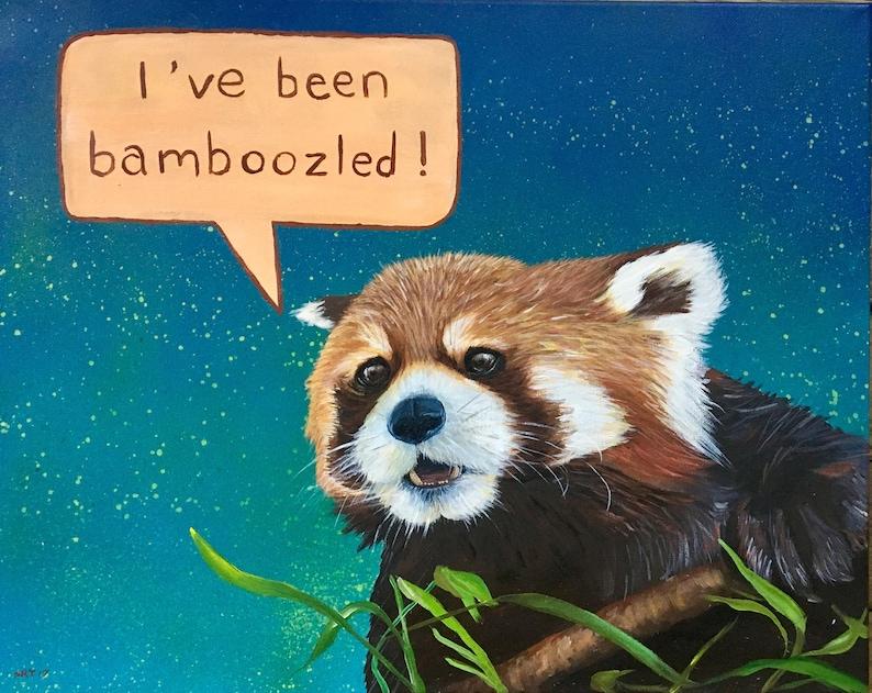 Print of Bamboozled Red Panda image 0