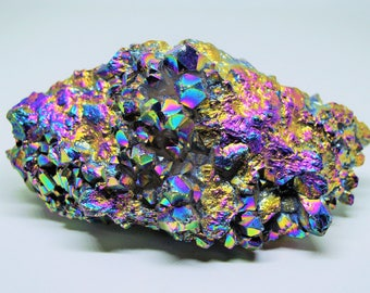Rainbow Quartz Cluster - 234 Grams Large Titanium Quartz Point Specimen