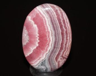 Rhodochrosite Cabochon - Pink and White Rare Gemstone Cabochon - DLML5