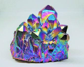 Huge Rainbow Quartz Cluster - 743 Grams - Rainbow Quartz, Crystal Point, Collector Piece