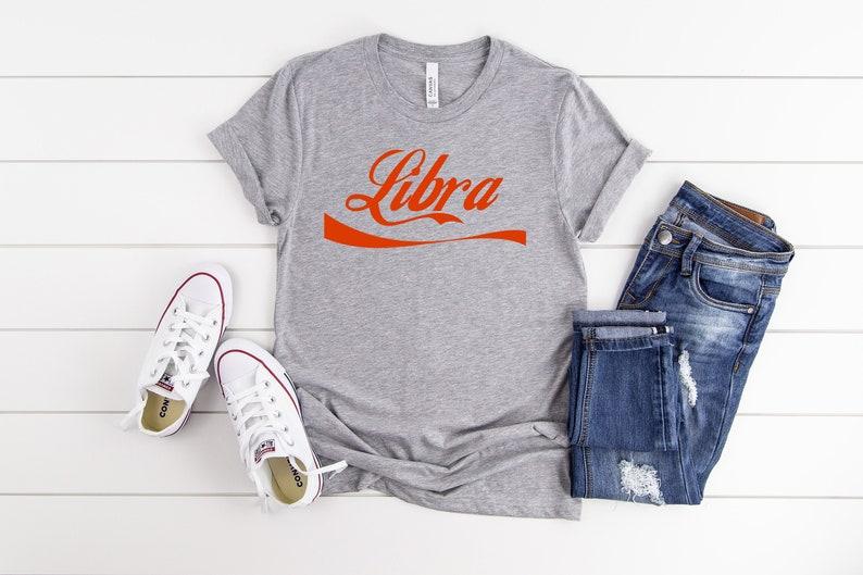 Libra Star Sign Zodiac Signs Astrological Women t-shirt Ladies Tee White Unique