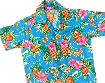 2e7954f442 Blue kids Hawaiian shirt