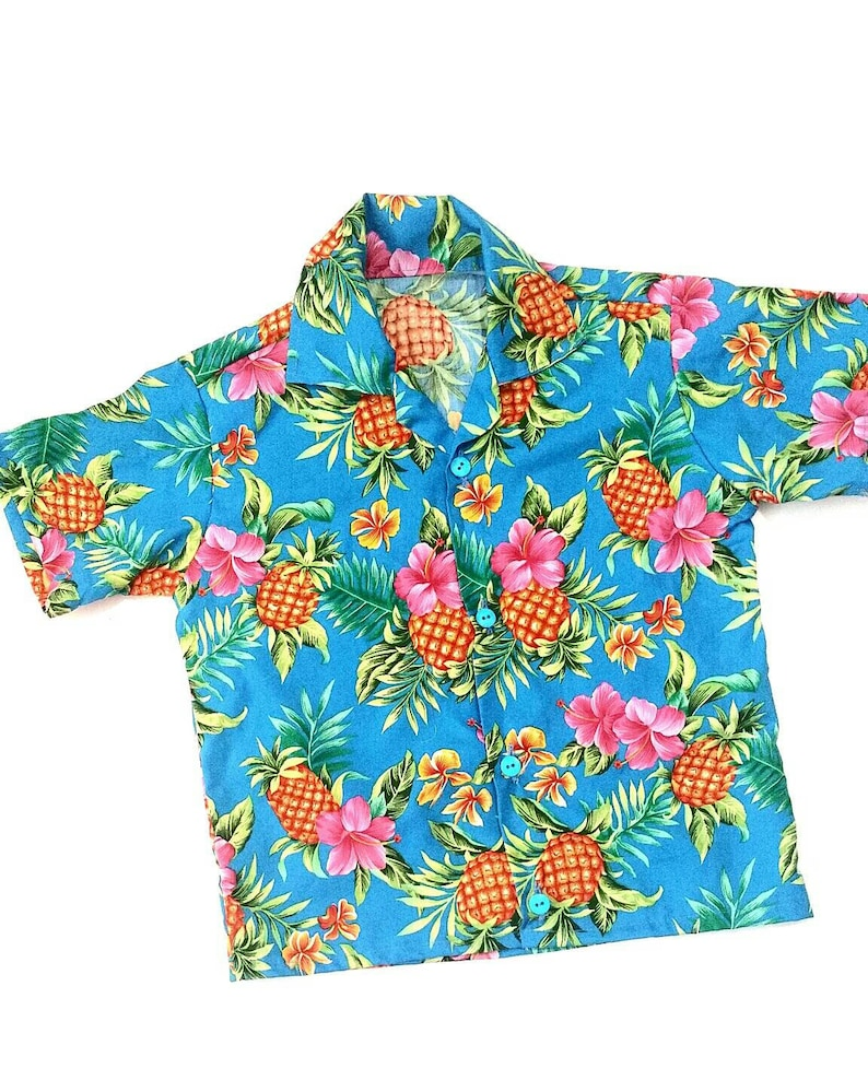d40b9f462 Blue kids Hawaiian shirt Hawaiian kids shirt baby boy | Etsy