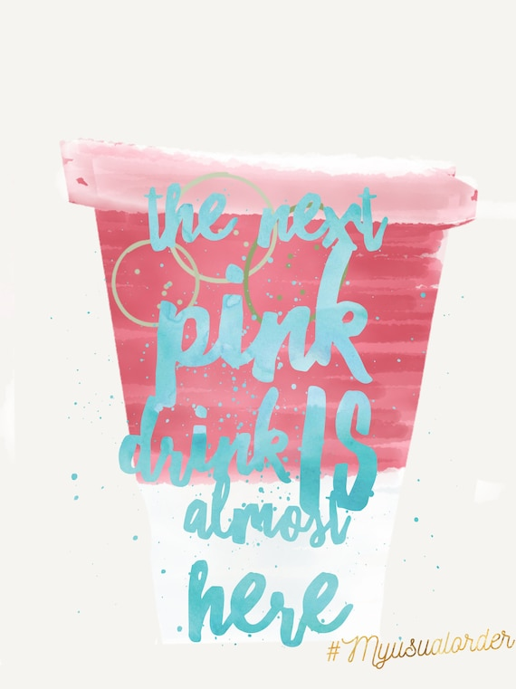 Starbucks Ombre Pink Drink New Pink Drink Illustration Drawing Iphone Wallpaper And Background