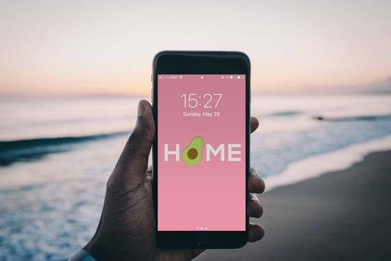 Home Sweet Home Avocado Home Pink Iphone Wallpaper And Background Digital Download Picture Mobile Phone Wallpapers And Backgrounds Avocados