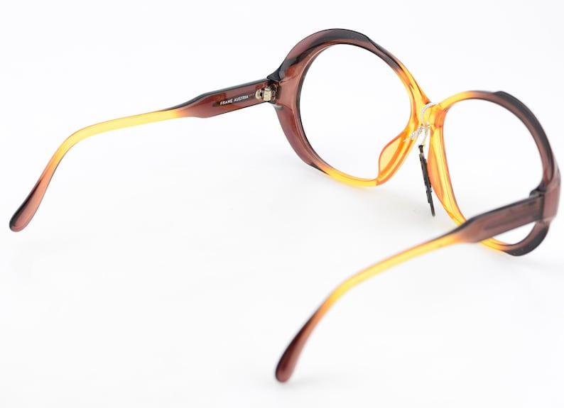 Vintage 70s Nikon Photo Brown Oversized Brown Yellow Sunglasses Optyl NEW 60-11