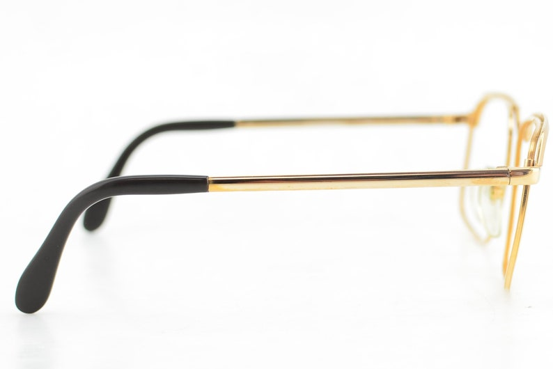 Luxury 1980s Zeiss Gold Browline Glasses Frames Made in Germany NEW 56-16
