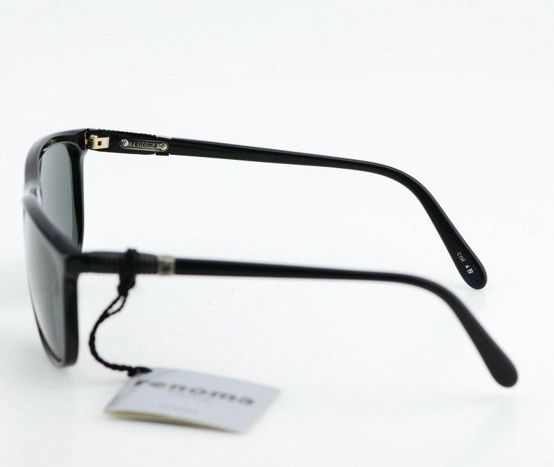 Vintage 90s Renoma Paris Lunettes Black Square Sunglasses JAPAN NEW 60-13
