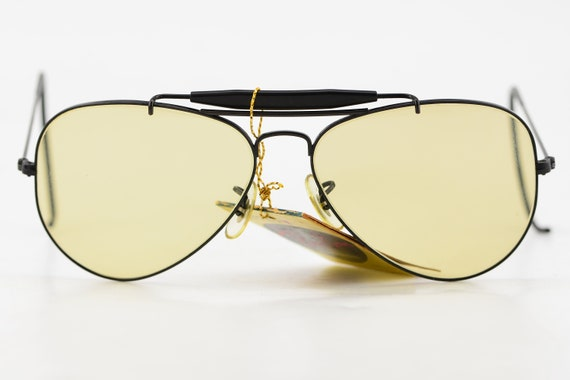 Vintage NEW 80s Ray Ban B&L Black Aviator Cable Te