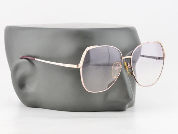 80s Paco Rabanne Eyewear Silver Oversized Purple g