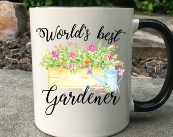 World's best gardener mug, Mug for Gardener, Gift for gardener, gardening mug, farmers gift, gift for her, farmers wife gift, gift for mom