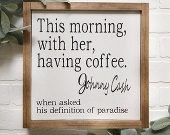 coffee print johnny cash quote coffee quote mornings love etsy