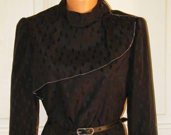 Mura Vintage, ex Yugoslavia, black, formal, elegant, 70's, beautifull, ladylike, perfect, fashionable, stylish, sophisticated