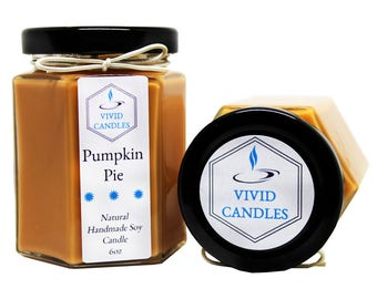 Pumpkin Pie Natural Handmade Soy Candle