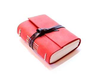 The Red Journal - Handmade leather journal A6