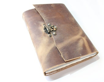 The Artists Journal - A5 Leather Journal  -  Brown Sketchbook  -  Sketchbook  -  Artists Leather Sketchbook - Gift for Artist