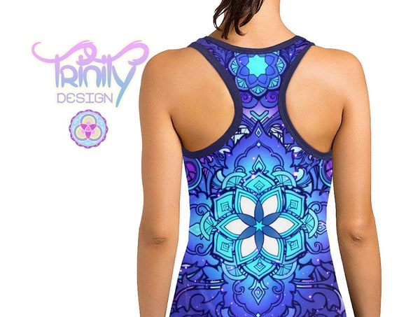 SACRED FLOWER Racerback Tank Top Women