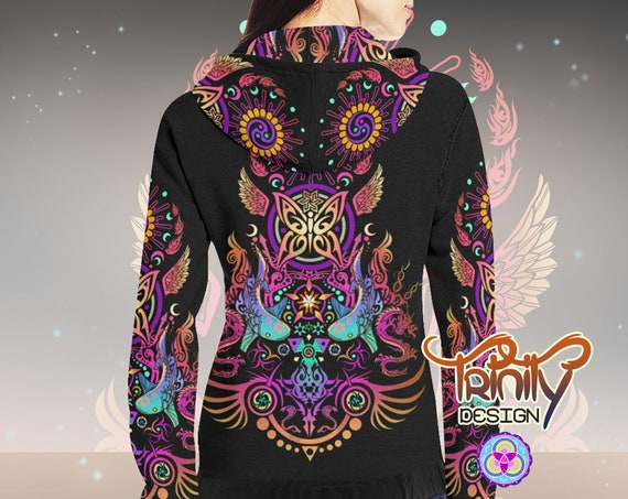 SACRED BUTTERFLY Fitted Hoodie