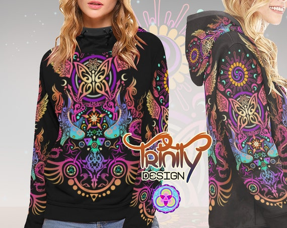 SACRED BUTTERFLY High Neck Hoodie