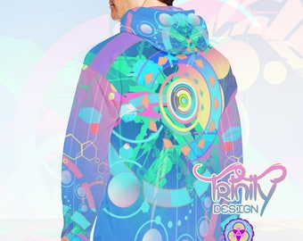 Hippie Clothes Psychedelic Hoodie Sacred Geometry Futuristic Clothing Music Festival Clothing Ravewear Rave Clothes EDM Burning Man clothing