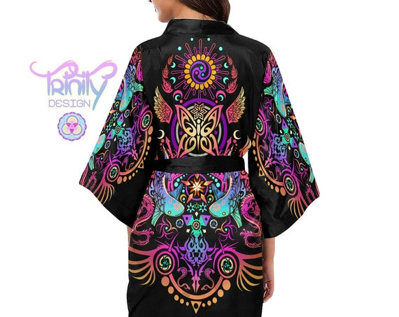 SACRED BUTTERFLY Kimono Robe