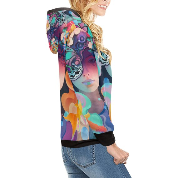 HOODIE Psy Trance Hippie Festival Psychedelic Outfit Goa Clothing Clothing Futuristic Psytrance Clothing Rave Clothing Clothing Trippy T1qFfaT