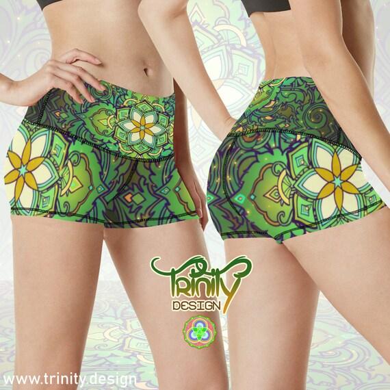 SACRED FLOWER Booty Shorts