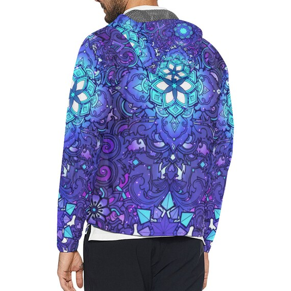 Clothing Jacket Geometry Clothes Clothing Burning Rave Windbreaker Sacred Music Futuristic Festival Ravewear Men Clothes Man clothing Hippie BwAaqd