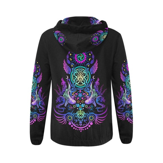 Trance Psytrance Psychedelic Rave Futuristic Outfit HOODIE Clothing Clothing Hippie Goa Festival Clothing Trippy Clothing Clothing Psy p7FRnddx