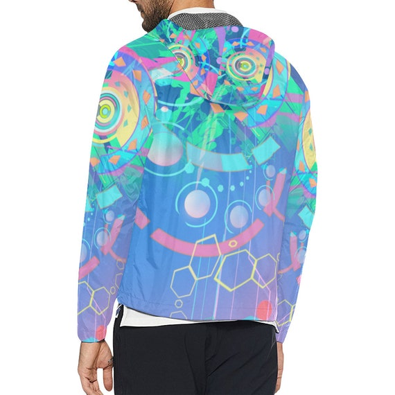 Clothes Geometry Festival Clothing Hippie Futuristic Ravewear Clothing Clothes clothing Windbreaker Man Rave Jacket Music Sacred Burning Men nxBORWZ
