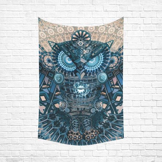 ALL SEEING OWL Wall Tapestry
