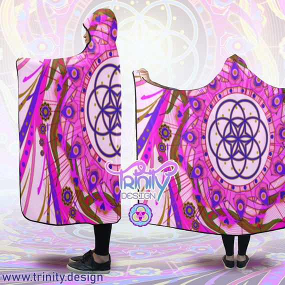 Poncho Psytrance Hooded Men Cloak Hippie Man Psychedelic Cape Festival Clothes Hooded Clothing Clothing Blanket Clothing Hooded Burning CvwURCq