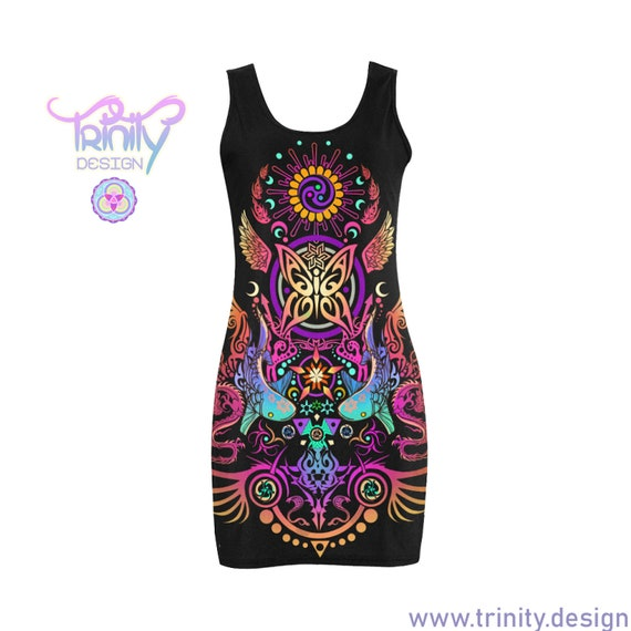 SACRED BUTTERFLY Bodycon Dress