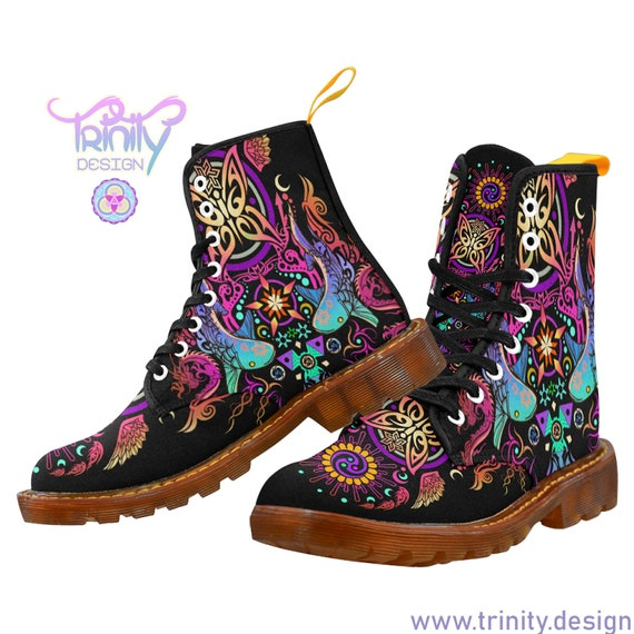 SACRED BUTTERFLY Boots Men ~ Ayahuasca ~ Hippie Clothes ~ Festival Clothing