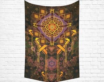 Spirituality Shop Mindfulness Gift Yoga Gifts Spiritual Gift Visionary Art Tapestry Fabric Wall Hanging Mandala Wall Art Meditation Gifts