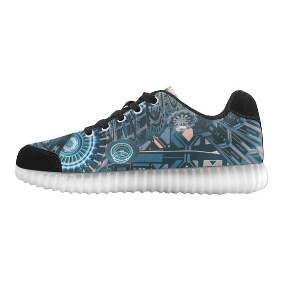 LIGHT chaussures Custom Unisexe Burning Man UP v 4xAw17q