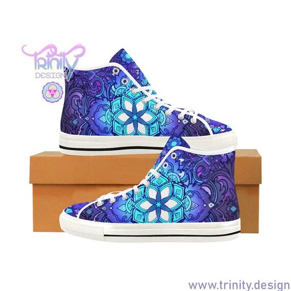 SACRED FLOWER BLUE High Top Sneakers Men