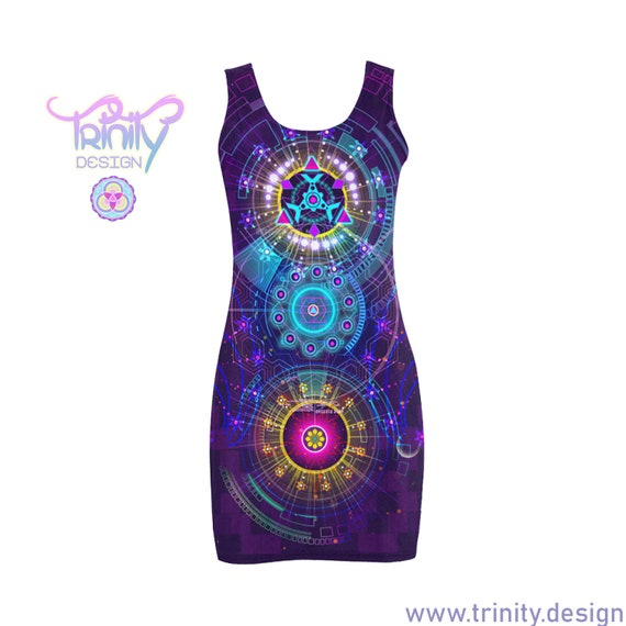 STAR FIRE Bodycon Dress