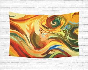 RA Woven Wall Hanging Mandala Tapestry Mandala Wall Art Wall Tapestry Psychedelic Tapestry Fabric Wall Hanging Wall Quilt Weird Art Trippy