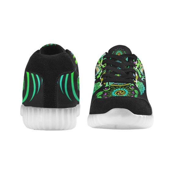 Trippy Rave Men Festival LIGHT Music Clothing Rave Clothing Edm Women UP Rave SHOES Goa Cute Man Wear Clothing Custom Unisex Outfit Burning UpxwTvq
