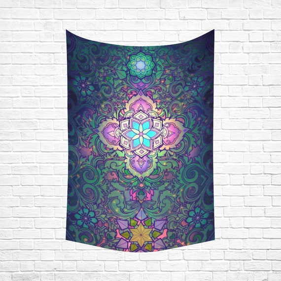 SACRED FLOWER Wall Tapestry