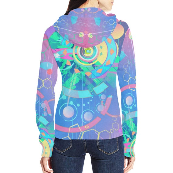 Psy Trippy Psychedelic Psytrance Hippie Goa Clothing Outfit Clothing Rave Clothing Clothing Clothing Festival Trance HOODIE Futuristic PwOqa6dx